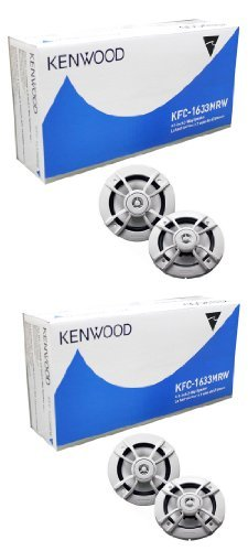 62 Marine 2 Way Speakers (4) New Kenwood KFC-1633MRW 6.5