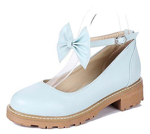 Tonda Basso Tacco Azzurro Ballet Punta Perla Tessuto Flats VogueZone009 Donna Fibbia TqE0CE1w