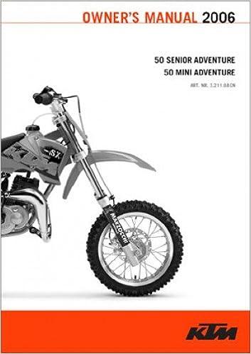 321168FR 2002 2006 KTM 50 Senior Mini Adventure Motorcycle