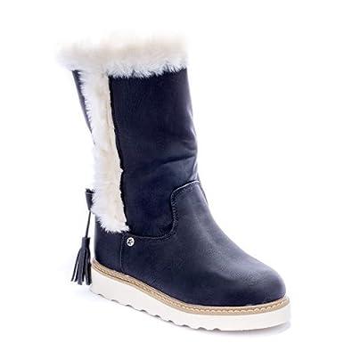 Damen Kunstfell 37 Größen 41 Schuhe 219 Boots Stiefel Pa Trendy WH2IYED9