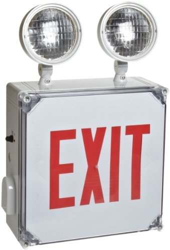 Morris Products 73393 Wet Location LED Exit Combo Unit, Red Letter Color (2)