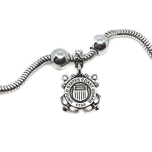 925 Sterling Silver Charm Lighthouse United States Coast Guard ...
