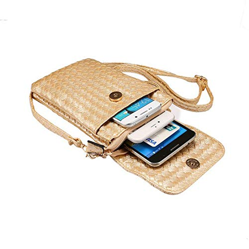Winbang Mobile Sacs Pochette pouces Bag Universal Messenger 7 PU 5 Housse Or cuir Casual Phone vv7rqdB