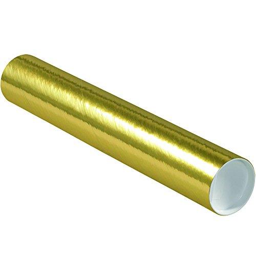 Aviditi P3018GO Mailing Tubes with Caps, 3