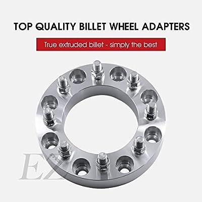 2 Wheel Adapters 8x6.5 to 8x6.5 (8x165 to 8x165) Thickness 1 Inch 14x1.5 Studs: Automotive
