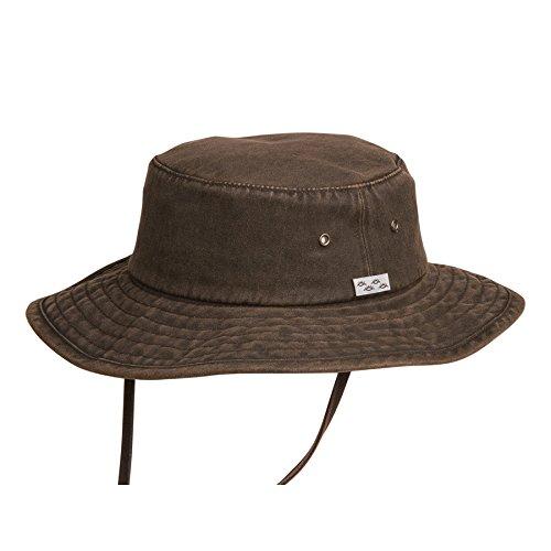 Dusty Road Aussie Waterproof Cotton Hat Brown Small