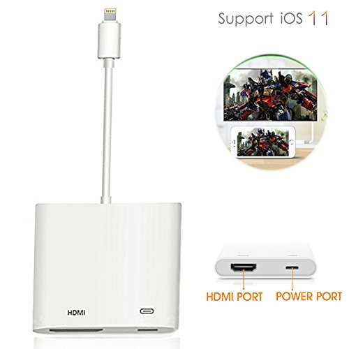 HAOXUELI Lightning Digital AV Adapter, 1080P HDMI Lightning to HDMI Adapter Cable for iPhone X,iPhone 7/7Plus,iPad Air/Mini/Pro,Monitor and iPod Models,Plug and Play iPhone to HDMI (s) by HAOXUELI