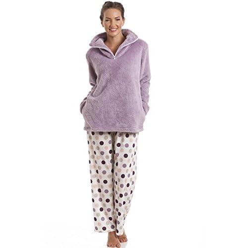 0a9c05b622 outlet Camille - Conjunto de pijama para mujer - Sudadera de forro polar  suave y pantalón