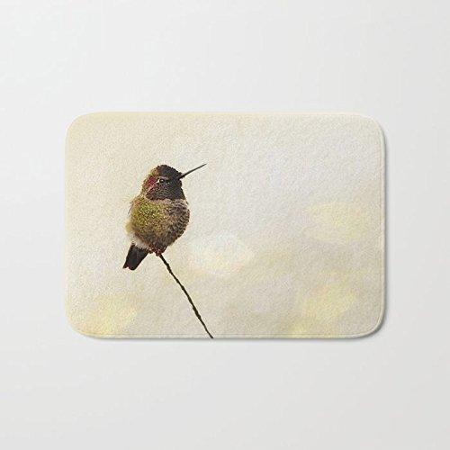 Custom Shower Curtain | Hummingbird Print Extra Long Shower Curtain | Designer Shower Curtain | Nature Print | Spa Bath Decor | Minimalist Bath Decor