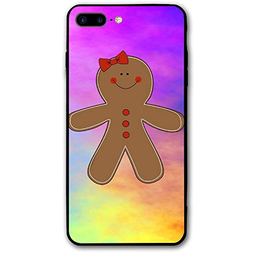 (Gingerbread Woman Clipart Phone Case Shock-Absorption Bumper Cover Anti-Scratch Clear Back for iPhone 8)