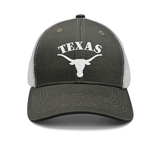 Army-Green Unisex Womens Vintage Cool Nice Caps Hat Fishing Texas-Longhorn-White- ()