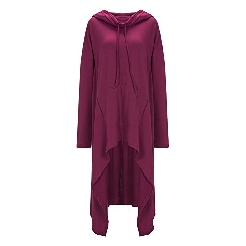 Purple Lora Aro Low Tunic Women's High Dress Sweatshirts x861zBq6w