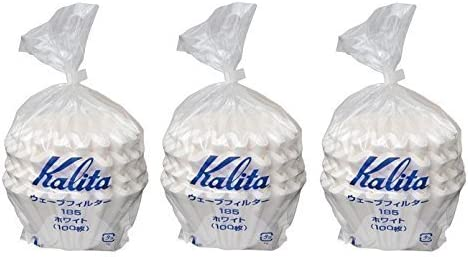 2-4 Persons 300 Pieces Japan White 3 X Kalita: Wave Series Wave Filter 185