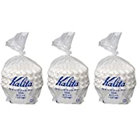 3 X Kalita: Wave Series Wave Filter 185 (2-4 Persons) White. 300 Pieces (Japan Import)