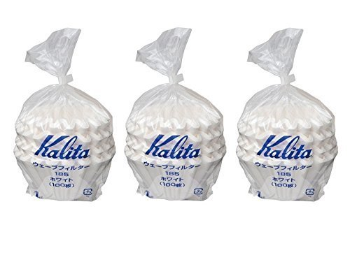 3 X Kalita:Wave Series Wave Filter 185[2-4 Persons] White.100 Pieces #22199(Japan Import) 6638834