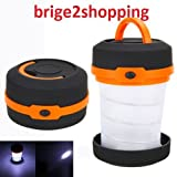 Bridge2Shopping™ Portable Foldable Folding Led camping Lantern Tent Camping Fishing Hiking/Multifunctional Outdoor Water Resistant/Pocket Type Emergency & Long Use