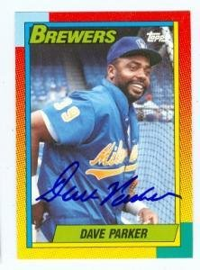 Dave Parker autographed Baseball Card (Milwaukee Brewers) 1990 Topps #86T Traded Set - Autographed Baseball Cards ()
