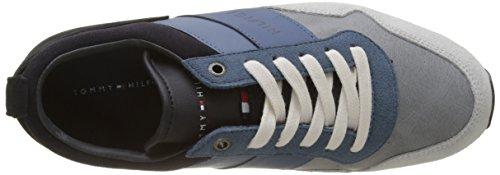 jeans Ginnastica Runner Twilight Tommy Iconic Hilfiger da Mix Scarpe 904 Color Blu Basse Uomo 067q64g