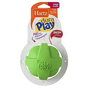 Hartz Dura Play Bacon Scented Ball Dog Toy – Large