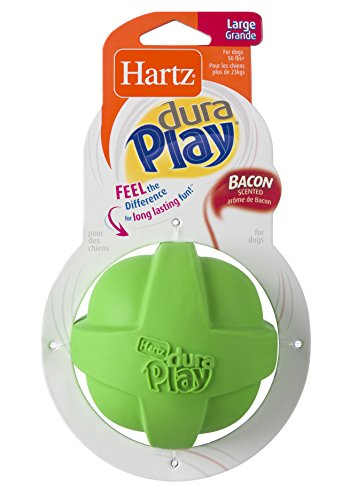 HARTZ Dura Play Bacon Scented Dog Ball - Large (Colors Vary)