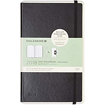 Moleskine Paper Tablet Smart Planner Weekly Notebook, 12 Month, Black, Hard Cover (5 x 8.25), Syncs w Google Calendar iCal, Android iPhone Compatible, ...