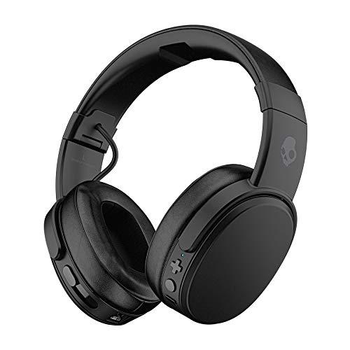 Skullcandy Crusher Wireless, Bluetooth, control de bajos, aislamiento de sonido, 40 horas de batería, estuche, almohadillas Memory Foam, color neg