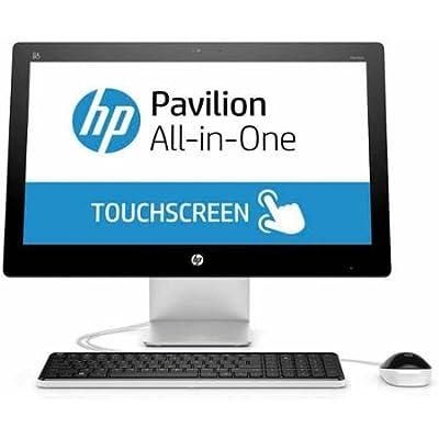 "2016 HP 21.5"" FHD Touchscreen All-in-One Desktop (Intel Dual Core 2.9 GHz CPU, 4GB RAM, 1TB HDD, DVD, WiFi, Windows 10) (Certified Refurbished)"