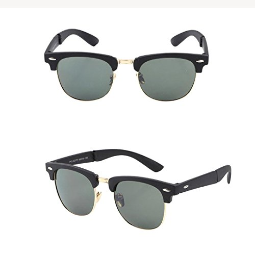 BEUU Sunglasses Fashion Retro Men And Women Classic Driving Glasses Folding Male Folded (C) (Classic Classic Pooh Cap)