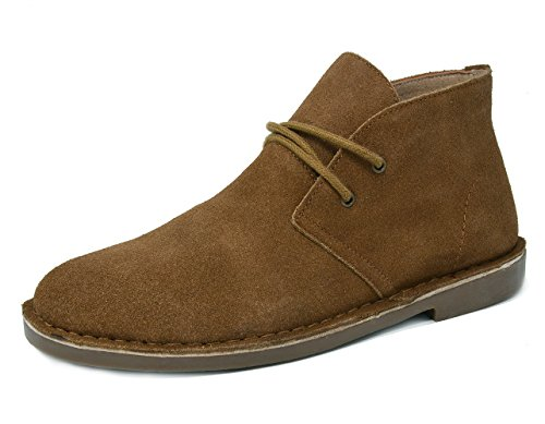 (Bruno Marc Men's Francisco-High Tan Suede Leather Chukka Desert Oxford Ankle Boots - 13 M US)