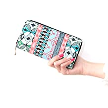 DreamBox Lovely Fashion Printing Long Purse Women Canvas Wallet Clutch Handbag