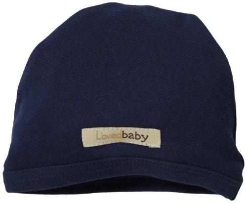 L'ovedBaby Baby Boys' Organic Cute Cap, Navy, 0-3 Months