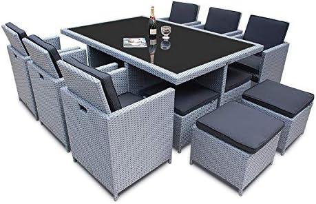 Ragnarök-Möbeldesign - Juego de muebles de jardín de polirratán de marca alemana y producción propia, resistentes