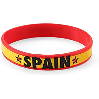 Komonee Spain Red World Cup Olympics Silicone Wristbands Pack Estimated Price £3.25 -