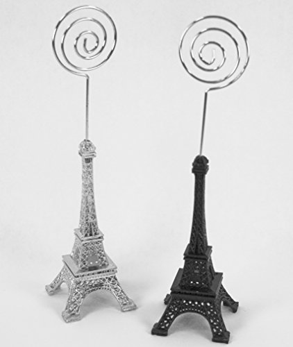 Eiffel Tower Place Card Holders - Dreampartycreation Taller Eiffel Tower French Themed Place Card Holders or Picture Holders (Set of 2) 6.5