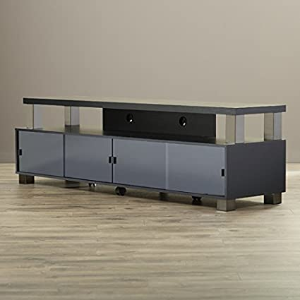Amazon Com Bukvice 75 2 Tier Tv Stand With 4 Cabinets And 4 Doors