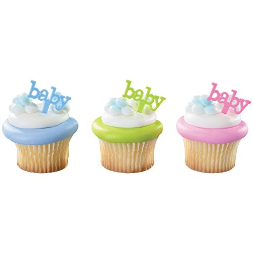 DecoPac Baby DecoPic Cupcake Pics (12 Count) Baby Cupcake Toppers