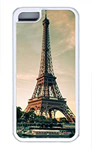 iPhone 5c case, Cute Eiffel Tower 11 iPhone 5c Cover, iPhone 5c Cases, Soft Whtie iPhone 5c Covers