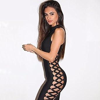 Vestidos De Fiesta Ropa De Moda 2017 Sexys Cortos Largos Negros Para Mujer Elegantes Casuales (L) VE0016 at Amazon Womens Clothing store: