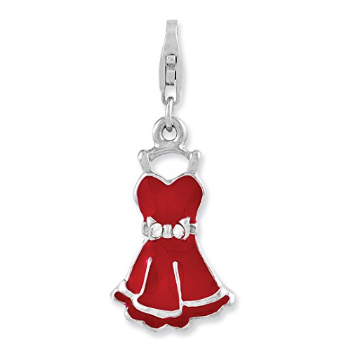 925 Sterling Silver Cubic Zirconia Cz Enameled Dress Lobster Clasp Pendant Charm Necklace Fine Jewelry Gifts For Women For Her]()