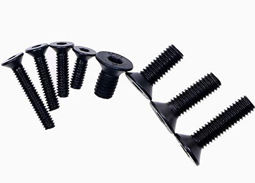 - Mini Skater M2 M3 Black Flat Head Hex Socket Cap Screws Black Oxide Finish Carbon Steel Countersunk Head Hex Socket Cap Bolt kit,200PCS