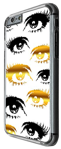 1543 - Cool Fun Trendy Cute sexy gold and black eyes bloggers make up fashion Design iphone 6 6S 4.7'' Coque Fashion Trend Case Coque Protection Cover plastique et métal - Clear