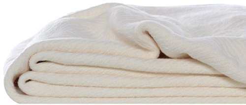 Eddie Bauer 200608 Herringbone Cotton Blanket, King, Bone (Cotton Sherpa Blanket)