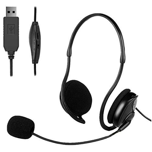 🥇 GAMRY Auriculares USB con micrófono de cancelación de Ruido