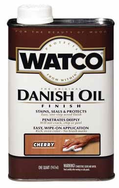 - Watco 65241 1 Quart Cherry Danish Oil Finish