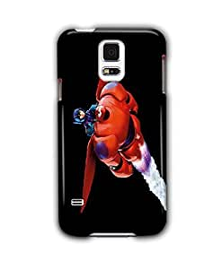 Tomhousomick Custom Design Cute Big Hero Baymax Case Cover for Samsung Galaxy S5 Say: Hello ,I'm Baymax.What's your pain level.
