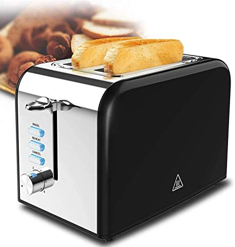 Toaster 2 Slice highest rated high Quickly Black Stainless Steel Bagel Toaster With 6 Shade Settings and Removable Crumb Tray for Bread Waffles