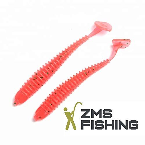 Idealer Barschk/öder Forellenk/öder Super zum Angeln mit Gummik/öder auf Raubfische. Zanderk/öder UVM je 7 cm // 2 g Barsch Riffle Shads -10- Teiliges-Set Gummifische ZMS Fishing im Rainbow Set