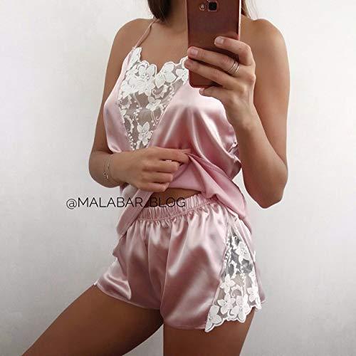 a di il WANG vestiti pigiama seta come v WEI ricamata casa pigiama mutande c vR1qW65