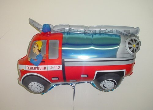 Grabo 30 Inch Fire Engine With Fireman Foil Balloon (cs101) -