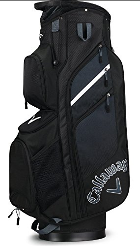 Callaway Golf 2018 Chev Org Cart Bag, Black/ Titanium/ White